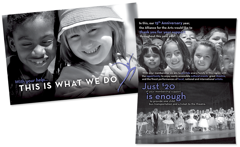 Alliance for the Arts Fundraising Brochure