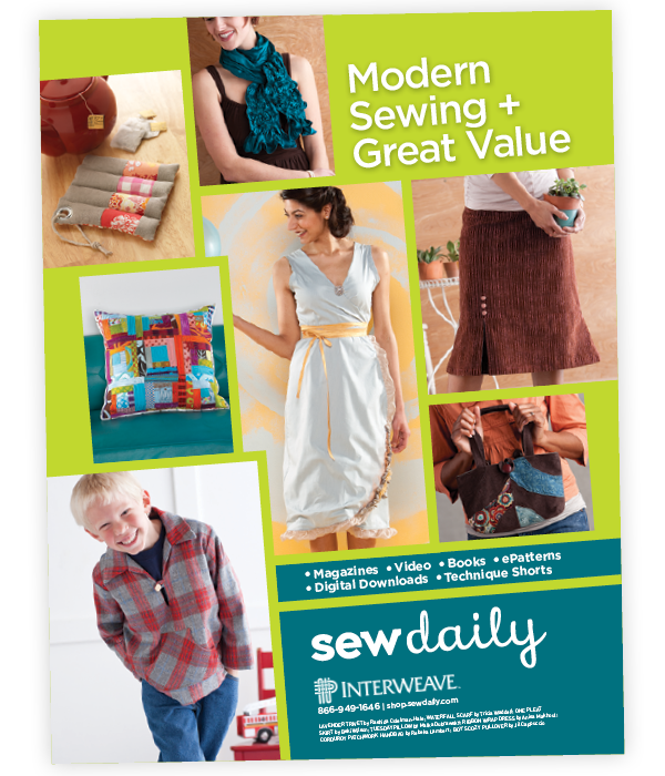 Sew Daily online resources magazine ad